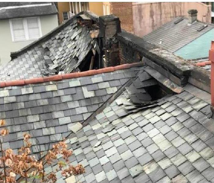 Roof burned